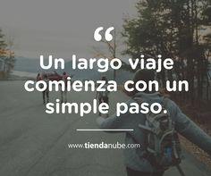 """#Frases: """"Un largo viaje comienza con un simple paso.""""  #TiendaNube #Journey…"""