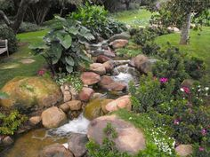 18m bachlauf im garten bauen | anleitung fÜr naturstein-bach, Garten und erstellen