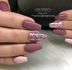46 Elegant Acrylic Ombre Burgundy Coffin Nails Design For Short And Long Nails -. - 46 Elegant Acrylic Ombre Burgundy Coffin Nails Design For Short And Long Nails – Page 43 of 46 - Mauve Nails, Burgundy Nails, Ombre Burgundy, Burgundy Nail Designs, Dark Pink Nails, Pink Manicure, Sparkly Nails, Gorgeous Nails, Pretty Nails