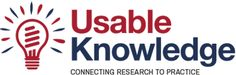 Usable Knowledge: Usable Knowledge is an online resource from the Harvard Graduate School of Education that aims to make education research and best practices accessible to educators and policymakers at all levels. The goal is to put that knowledge directly into the hands of practitioners who can use it to make a difference in their classrooms, schools, districts, universities, parents, and communities. #hgse #usableknowledge @harvarded