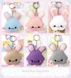 Bunny Plush Keychains by Oborochann