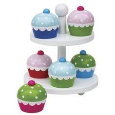 Adorable cupcakes from Jabadabado♡ Pretty Nail Colors, Spring Nail Colors, Colors For Dark Skin, Munnar, Cupcakes, Ceramic Painting, Gifts For Girls, Xmas Gifts, Wooden Toys