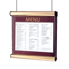 Window Hanging Menu Display Case - Menu Display Board - Wall Mounted Menu Holder - Chinese New Year - Restaurant Ideas