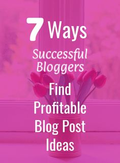 If you're blogging for money, these tips will help you find blog post ideas... Make Money Blogging, Way To Make Money, Seo For Beginners, Build A Blog, Blog Names, Blog Topics, Blogger Tips, Free Blog, Pinterest Marketing