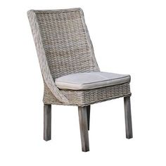 Panama Jack Sunroom Exuma Side Chair with Cushion Upholstery: Birdsong Seamist