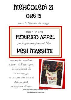 Incontro con l'autore Federico Appel mercoledì 21 maggio Biella