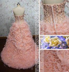 Luxurious Sweetheart Beaded Ruffled Tulle by Loveannaweddingdress, $499.00