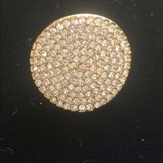 Gold Pavè Ring Beautiful gold tone Pavè Crystal ring by Coach (CBJ) Coach Jewelry Rings