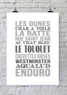 Affiche Bord de mer « Le Touquet »