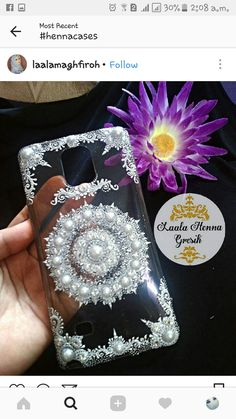 Diy Phone Case, Phone Cover, Iphone Cases, Henna Candles, Crystal Embroidery, Hennas, Leather Phone Case, Henna Patterns, Henna Art