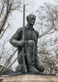 "Statue of James ""Jim"" Bowie, a hero at the Battle of the Alamo, by sculptor William M. McVey. It was placed in downtown Texarkana, Texas in 1936 as part of the celebration of Texas's centennial. Photo 2014 by Carol M. Highsmith. The Lyda Hill Texas Collection of Photographs in Carol M. Highsmith's America Project, Library of Congress, Prints and Photographs Division."