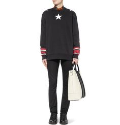 GivenchyStar-Print Striped Cotton Sweatshirt