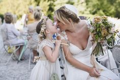 Helaina and Dan had an English country garden-meets French boho chic wedding at Chateau La Durantie in The Dordogne. Photography by Rik Pennington.