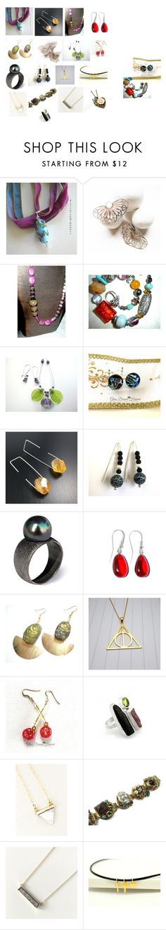 """etsy jewelry"" by anastasiatsouk ❤ liked on Polyvore featuring Selro"