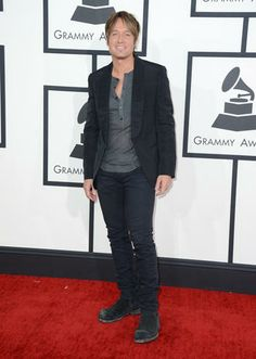 #GRAMMYs #STYLAMERICAN - Keith Urban - Grammy Awards 2014