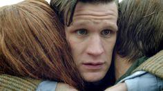 Don't ever do that again...   The Angels Take Manhatten     Eleven + His Ponds     Doctor Who     Matt Smith + Karen Gillan + Arthur Darvil