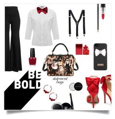 """Be Bold"" by im-karla-with-a-k ❤ liked on Polyvore featuring Dolce&Gabbana, M&Co, Rosetta Getty, Ted Baker, MAC Cosmetics, Chanel, BP., Marc Jacobs, Bobbi Brown Cosmetics and statementbags"