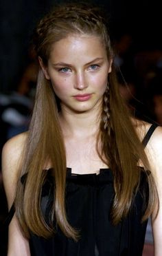 great braids for long hair | Here's a collection of photographs of the stunning Ruslana Korshunova ...
