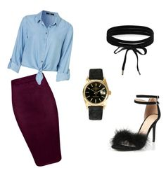 """""""Untitled #8"""" by xqueen-lynnx on Polyvore featuring Boohoo and Rolex"""