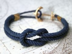 Diy Nautical Rope Bracelet. This anchor is very nice!
