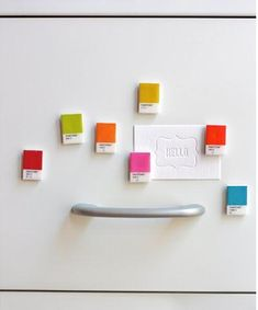 Colorful Paint chip magnets #paintchip #magnets