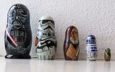 Thank you Matt Brown for creating the Star Wars Russian Dolls! You made my day.