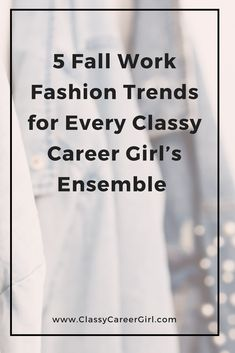 5 Fall Work Fashion Trends for Every Classy Career Girl's Ensemble Autumn Fashion Work, Fall Fashion Trends, Work Fashion, Latest Fashion Trends, Fashion Ideas, Women's Fashion, Professional Outfits, Professional Women, Classy Work Outfits