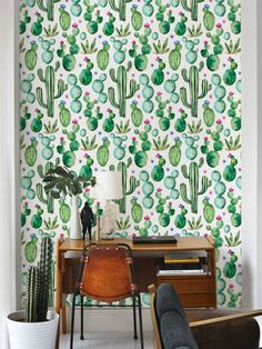 Beautiful cacti pattern vinyl material self-adhesive temporary wallpaper, easy to use! Peel it, Stick it and LOVE it! Add to your room personalised charm only in few minutes! :) For more designs visit - https://www.etsy.com/shop/Betapet ► SIZES * 20.7 wide x 48 height / 52.5 cm x 122 cm * 20.7 wide x 96 height / 52.5 cm x 244 cm * 20.7 wide x 108 height / 52.5 cm x 275 cm * 20.7 wide x 120 height / 52.5 cm x 304 cm ► CUSTOM SIZE – we can print the...