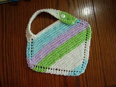 Ravelry: Baby Bib knitting pattern with cotton yarn