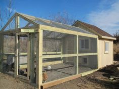 Chicken Coop - So.weve been winterizing the chicken coop. Perhaps remodeling would be more descriptive. Ok, lets be real.our chickens now live . Building a chicken coop does not have to be tricky nor does it have to set you back a ton of scratch. Chicken Barn, Chicken Coop Run, Diy Chicken Coop Plans, Portable Chicken Coop, Chicken Coup, Chicken Coop Designs, Backyard Chicken Coops, Building A Chicken Coop, Chickens Backyard