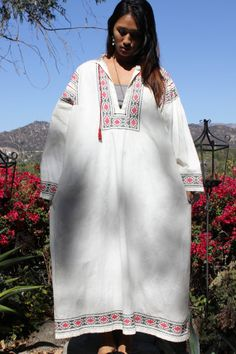 Fantastic L/XL Cross Stitched Hand Embroidered Bedouin by Vdingy, $145.00
