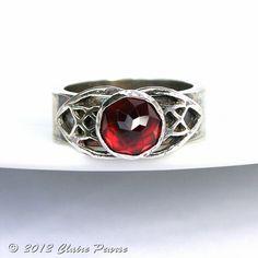 This item is unavailable Viking Rings, Im Fabulous, Bold Rings, All That Glitters, Garnet Rings, Birthstones, Vikings, Celtic, Jewerly