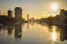 Montag, 18.01., 09.00 Uhr – Friedrichshain, Schillingbrücke: Schöne Sonne. © Laura Plank