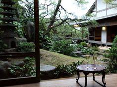 Lobby garden Japanese Water Gardens, Kyushu, Okinawa, Yamaguchi, Patio, Outdoor Decor, Sims, Plants, Mantle