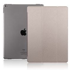 conjoinedleather case for iPad pro with frosted soft transparent TPU and stand anbond (1)