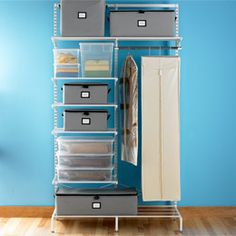 The Container Store > White elfa freestanding Out-of-Season Closet