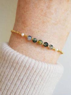 Intention Bracelet Beautiful Delicate Adjustable Genuine Gemstone Bracelets Chakra Bracelet Yoga Bracelet NEW! Minimalist Bracelet