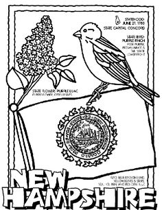 New Hampshire State Symbol Coloring Page by Crayola. Print or color online. #NewHampshire