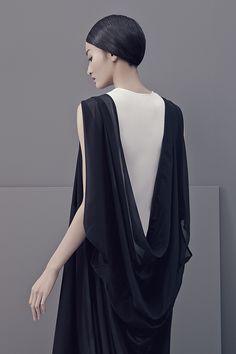 Contemporary Elegance - draped back dress detail // Ph. Matthieu Belin for LESS SS 2014