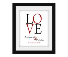 Personalized LOVE Couples Marriage Newlywed Printable Wall Art Digital JPEG File on Etsy, $10.00