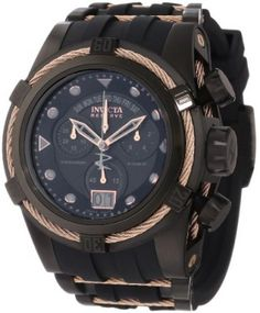 Relógio Invicta Men's 12300 Bolt Zeus Chronograph Black Dial Black Polyurethane Watch #Relogio #Invicta