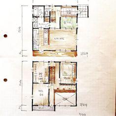 『32坪の間取り』4LDK、吹抜け、フリースペースなど。 洗面脱衣室が2way。 #間取り#間取り図#間取り図大好き #マイホーム#新築一戸建て #家づくり#住まい#住まいづくり#ライフスタイル#32坪#30坪#2階建て #コスパ最高 #4人家族#3人家族#プラン#設計事務所#設計#設計士#floorplan#japanese