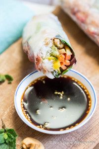 Lobster Spring Rolls filled with Mango, Avocado, Cashews & Mint ...