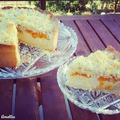 Flavours of Amellia: Meruňkový koláč s tvarohem a drobenkou Small Desserts, Vanilla Cake, Sweets, Cookies, Baking, Food, Crack Crackers, Gummi Candy, Bakken