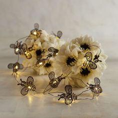 Metal Bee LED 10' Glimmer Strings Brown