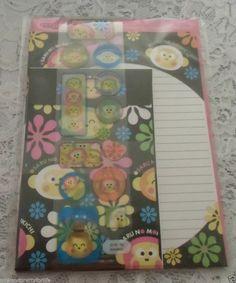 VTG Sanrio Hello Kitty Saru No Monkichi Letter Set  02-NEW-COMPLETE-W/INSUR-VHTF