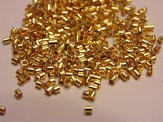 100 gold plated crimp tube 1.5 mm by petrascrafts64 on Etsy
