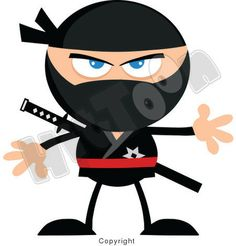 Ninja Cartoon Mascot Characters by Chud Tsankov, via Behance