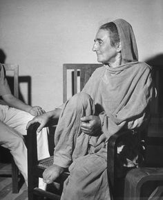Mira Ben Slade — a Gandhi disciple for more than two decades — pictured in India in 1946.