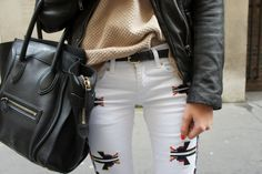 i dont know whats on the pants, but I like it